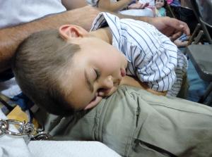 Sleepy grandson...