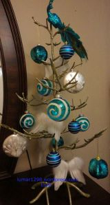 Blue White tree