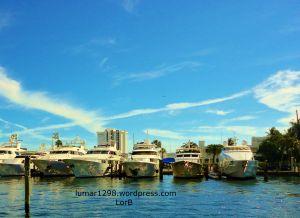 White boats-Blue sky