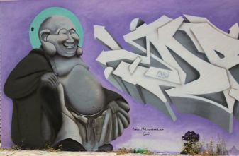 Graffiti Grey Budda