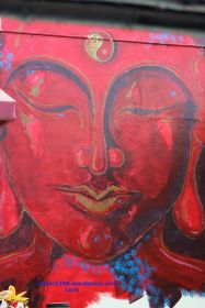Graffiti Red Budda