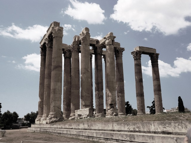 Columns in Athens, Greece